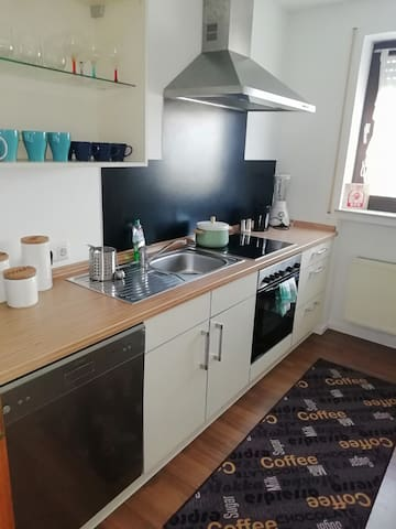 Kitchen with dishes