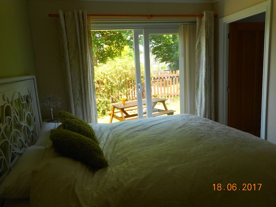 bedroom 1 private entrance with garden