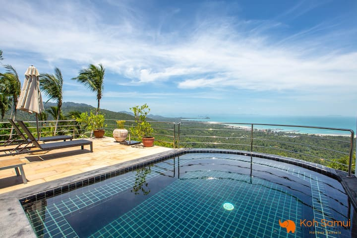 Most Relaxing 3BR + Private Pool-Panoramic Seaview