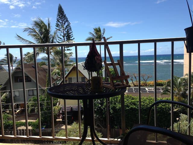 a great view of the ocean on the lanai