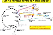 Just 48 minutes to/from Narita airport!