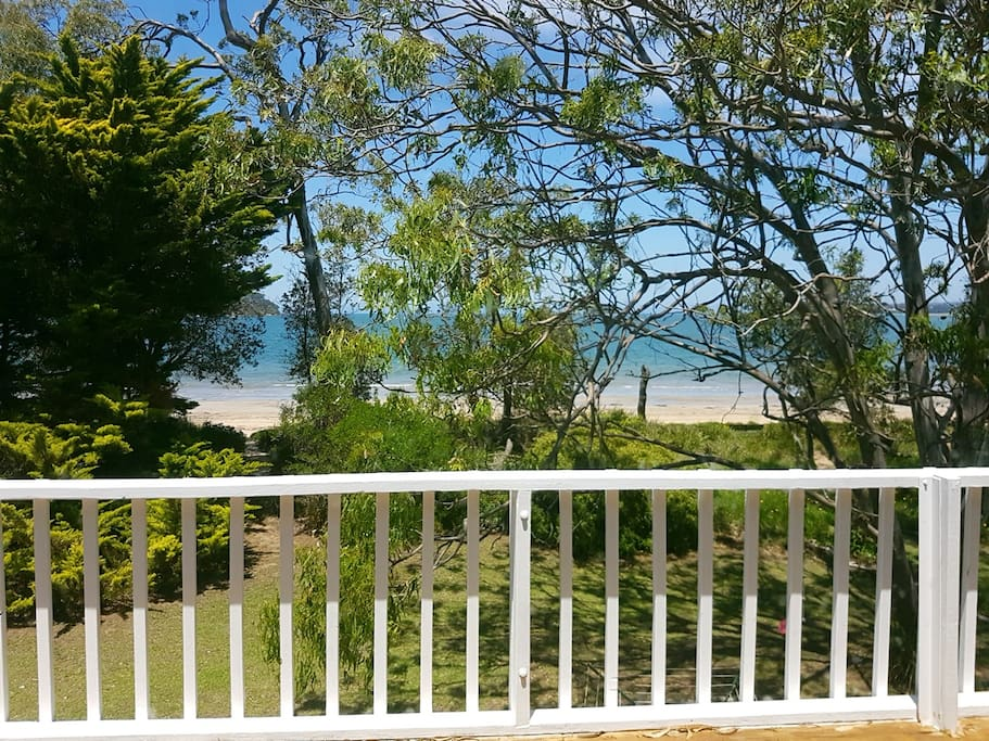 What A View From The Deck Of The Beach House