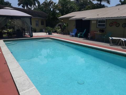 Przytulny prywatny domek z basenem