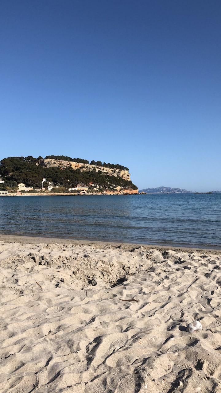 Charmante studio à 7 minutes a pied de plage