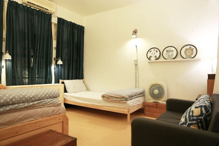 2 min away to MRT// Taiwanese Apt.//Cozy Room - Sanchong District