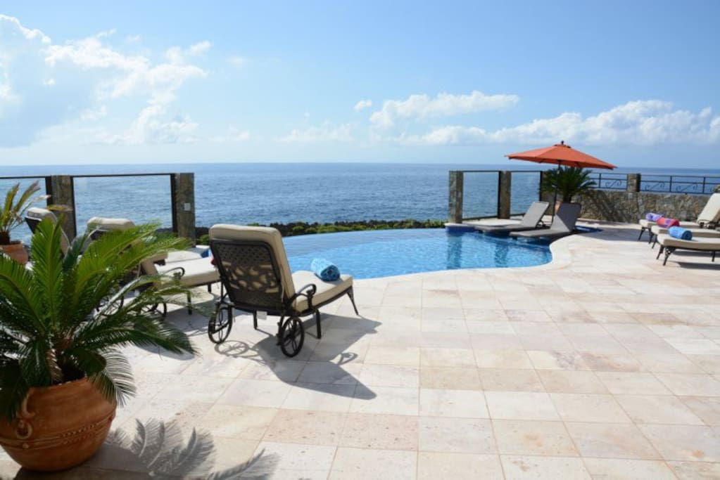 Stunning views from the large pool deck.
