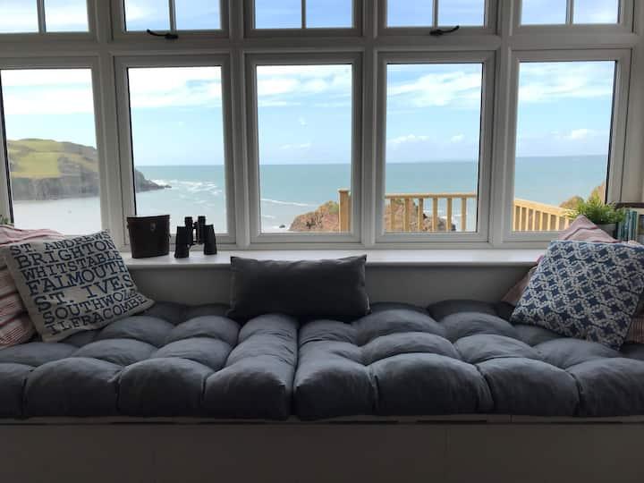 Hope Cove, sleeps 2-9, fab sea views, pet friendly