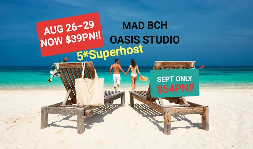 MAD BCH OASIS STUDIO* LM CANCEL AUG26-29$39PN