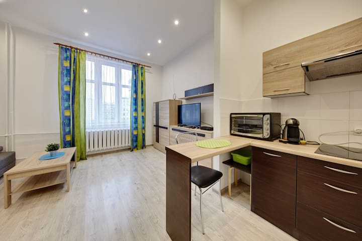 A beautiful apartment in the center of Katowice