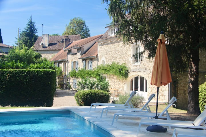 The Mill at Montcaret with a pool, near St-Emilion