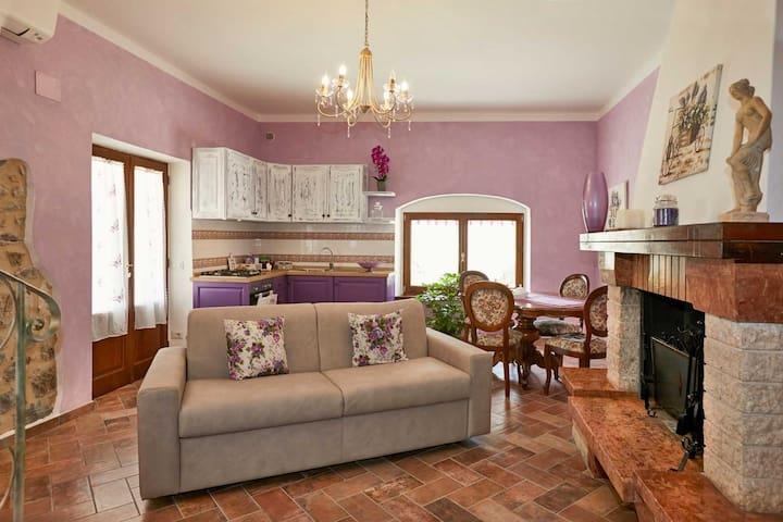 Romantico appartamento in agriturismo Montecrespin