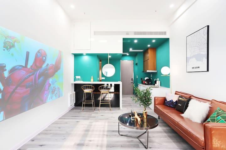 OM噢家『Lime』•市中心Loft复式海景公寓 •设计师民宿•现代复古•智能家居•群光汇