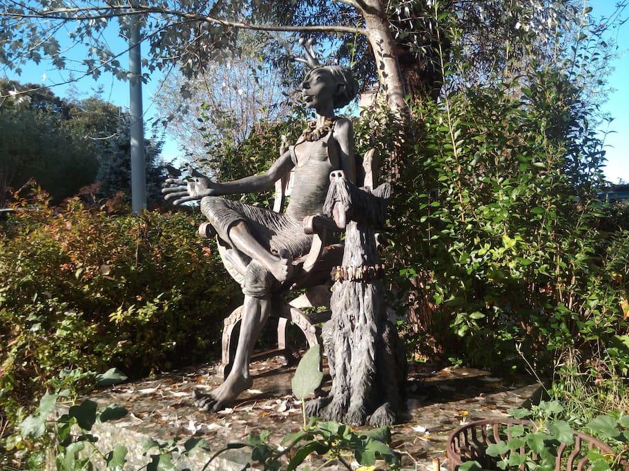 bronze statue in garden life size