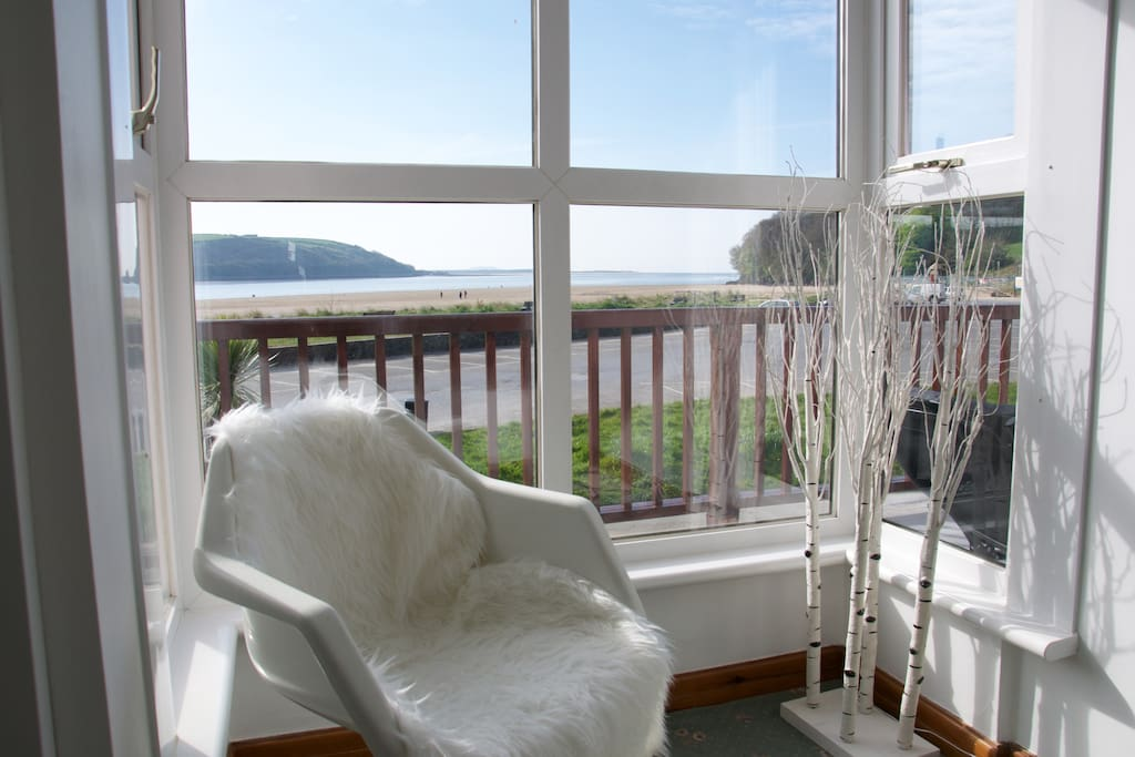 Bay window views across to the Gower