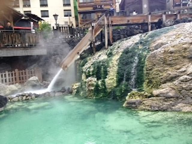 temple n spa in Kusatsu  - Kusatsu-machi