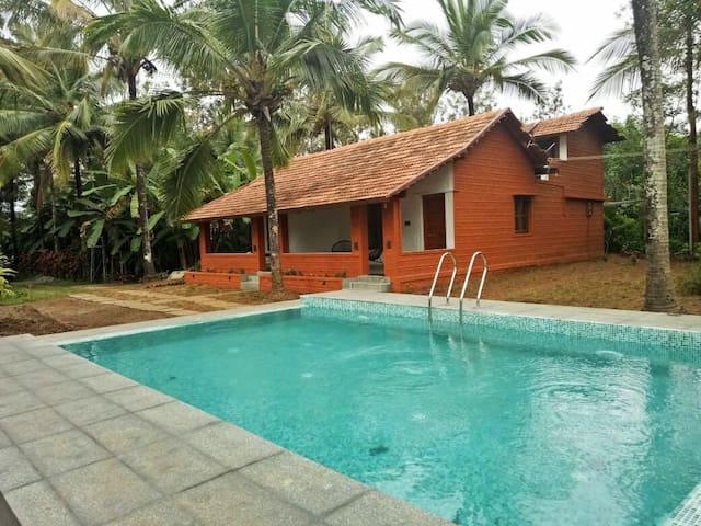 Eco Habitat - luxury farm stay, private pool Villa