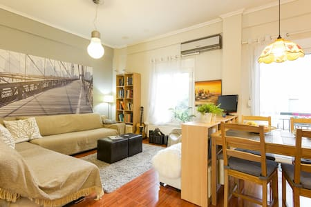 Central, bright 2-BD Apt. WiFi, in a prvt building - Thessaloniki - Other