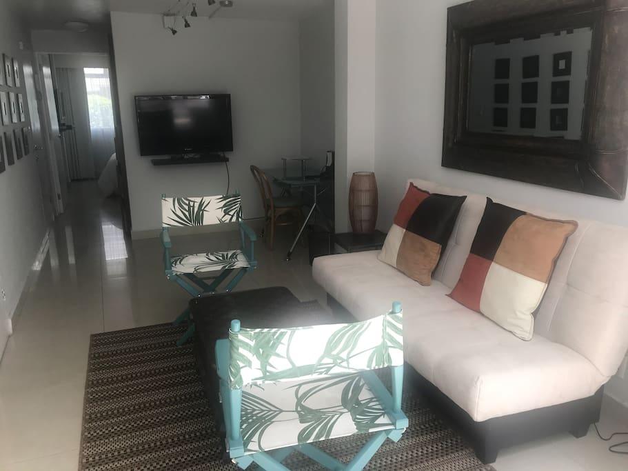 Sala con sofa cama