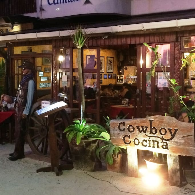 This is our local Cowboy Cocina Restaurant, where we meet our guest.