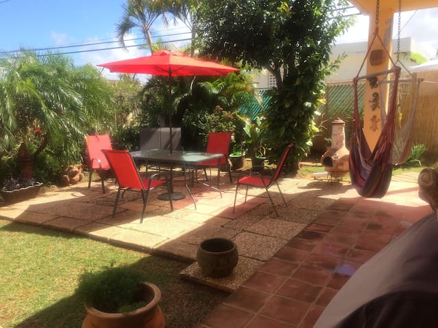 comfortable patio area
