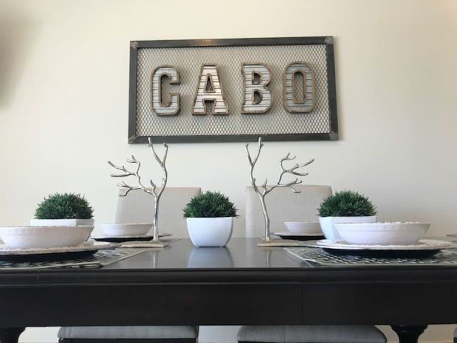 """The interior designer influence offers a rustic and urban accent with a flare of """"Cabo"""", creating the perfect vacation accommodation."""