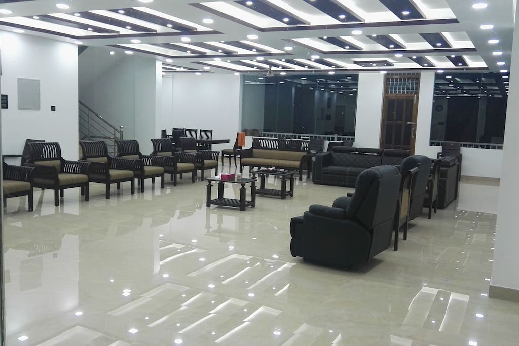 Ground floor single hall with dining, 1800 sq. feet of airconditioned luxury, can host party with upto 200 guests
