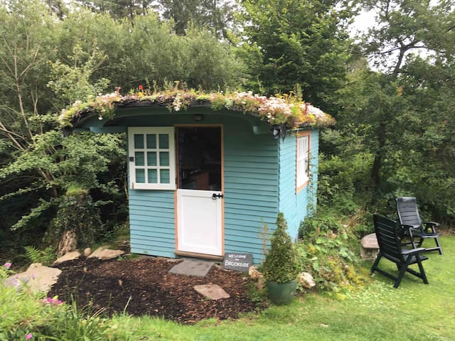 Brookside cabin for single person or parent/child