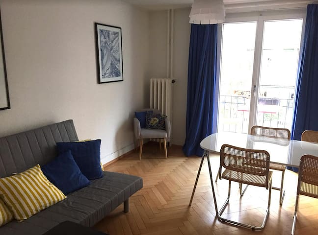 Room in trendy area with 10 min to main Station - Zúrich - Departamento