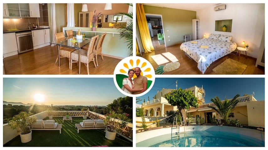 Casa Piña🍍Unique Romantic❤ Seaview Eco Apartment