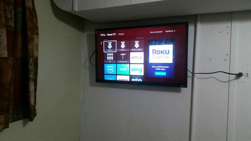 """32"""" smart tv-wireless connected. Use your app login for your entertainment"""