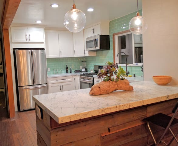 Spacious house with a newly remodeled kitchen.