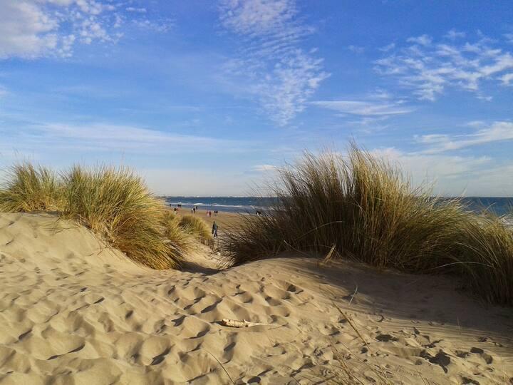Carnon, 50 m de la plage, rdc indépendant de villa