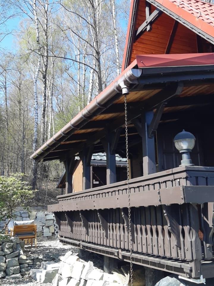 Bystra Chata w Beskidach przy Enduro Trails