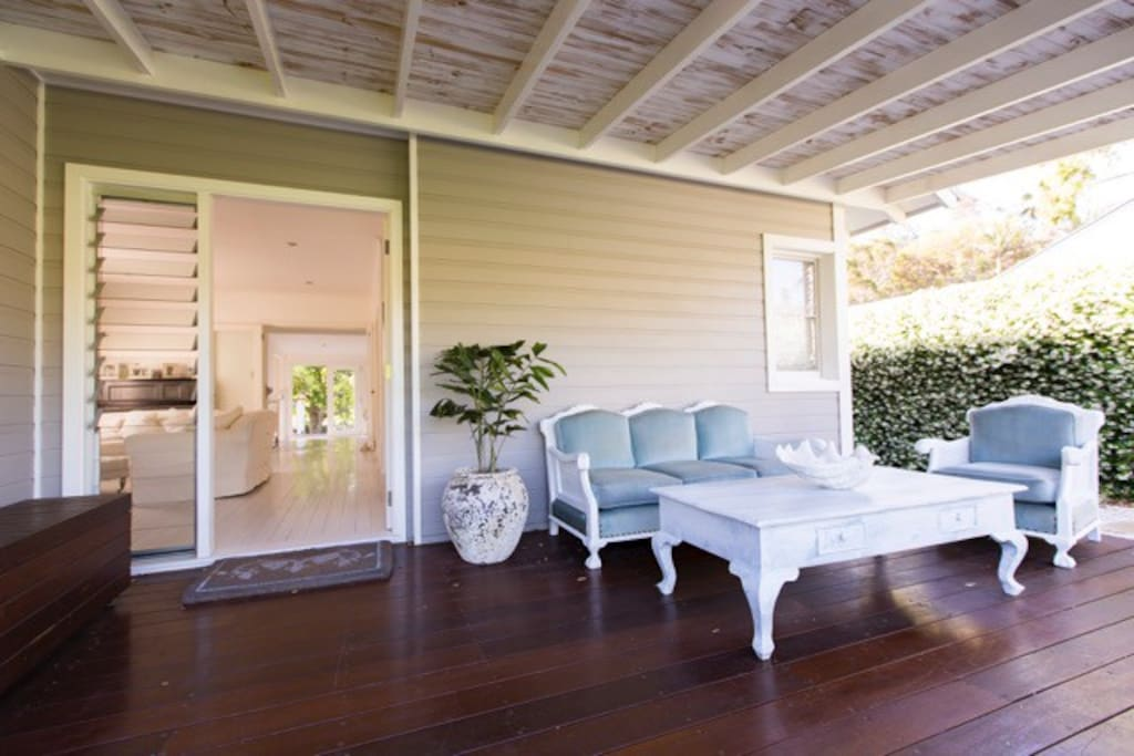 Entry: covered NE facing front verandah