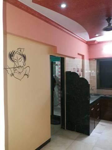 Studio apt 1Bedroom & open terrace in South Mumbai