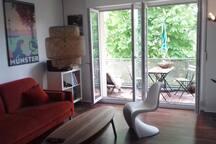 65m² Flat, 2 Zimmer, Küche & Bad, im Hafenviertel