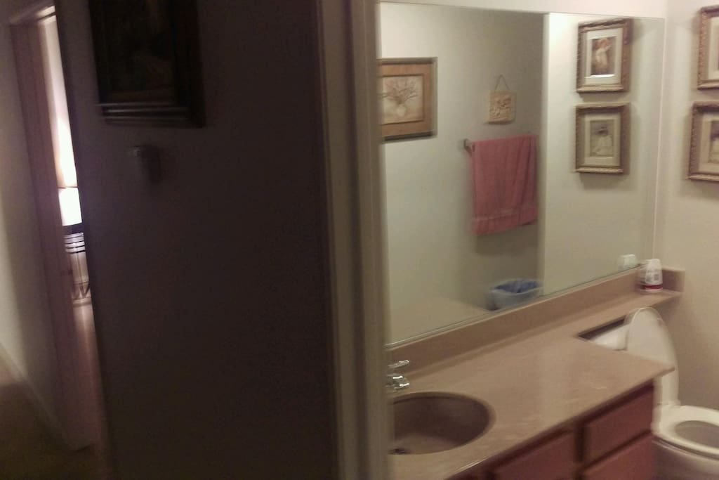 Bathroom down the hall