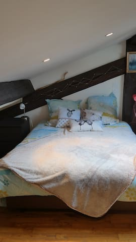 Rooftop bedroom near the Saone 10min from Old Lyon