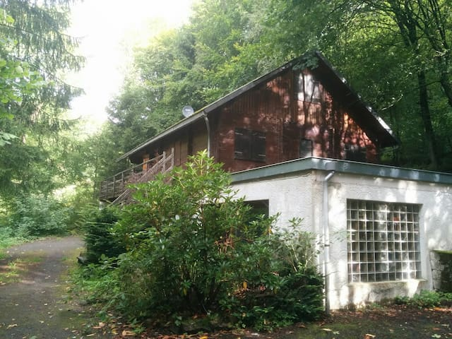 Chalet with pool in the Ardennes