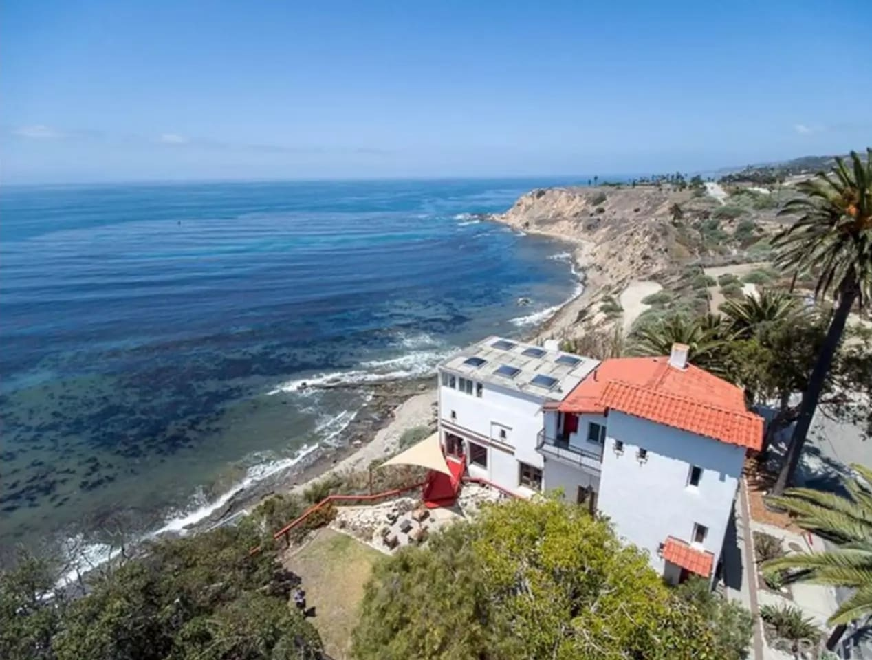 Sweeping views of the Pacific Ocean and a direct view of Catalina Island.  The historic San Pedro Rock House, built in 1924.