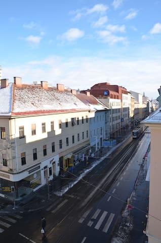 Blick von der Wohnung Richtung Innenstadt