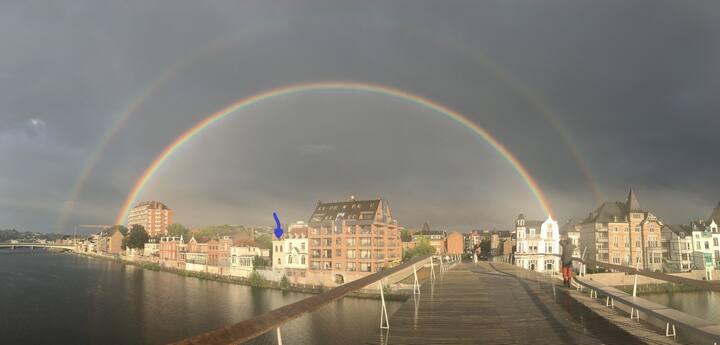 Namur : maison avec vue et jardin