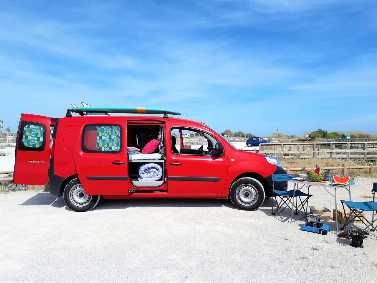 Get your Mediterranean Ocean Camper incl. camping equipment and everything you need!