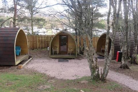 Pine Marten Bar Glenmore Glamping Cabin 1