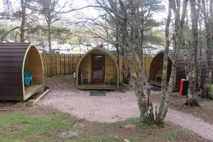 Pine Marten Bar Glenmore Glamping Cabin 2