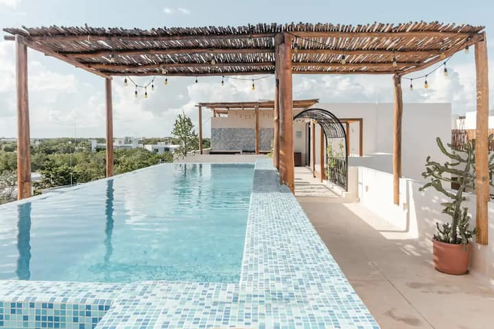 Design Loft Tulum | Infinity Roof Top Pool