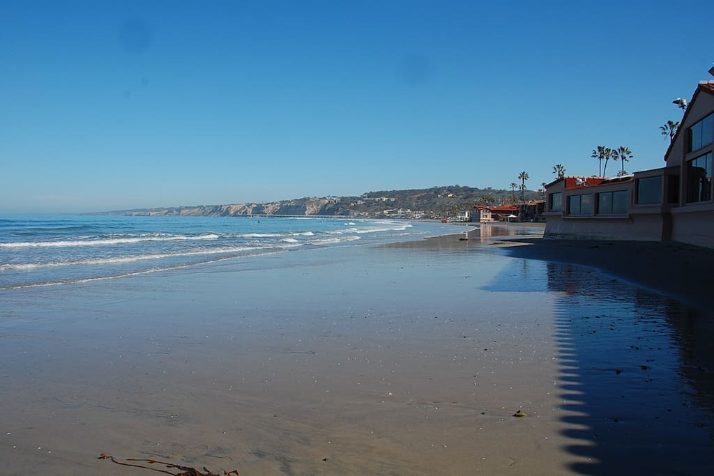 La Jolla Shores beach just a short 5-10 minute walk from the house
