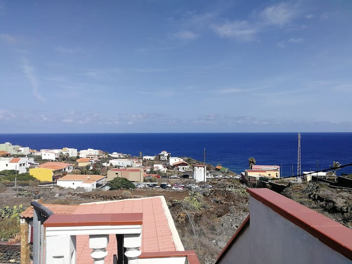 Apartment with 2 bedrooms in La Caleta, with wonderful sea view and furnished terrace