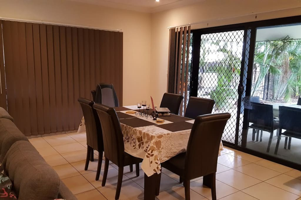 Dining Area with Back & Foot Massage machine