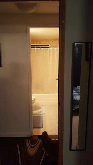 Private bathroom across the hall.